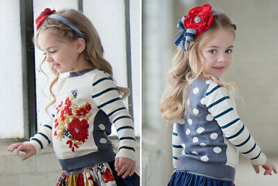 EUC girls' Persnickety Flora sweater from the Penny Lane line in size 10 (S).