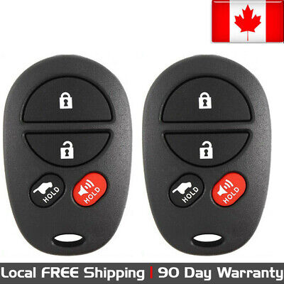 2x New Replacement Keyless Entry Remote Control Key Fob For Toyota Avalon Solara