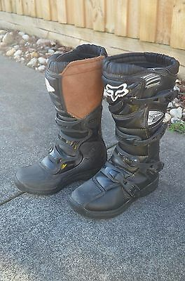 Fox MX Youth 8 Comp 3 Black Motocross boots