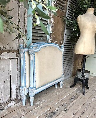 Vintage French hand painted Single bed frame