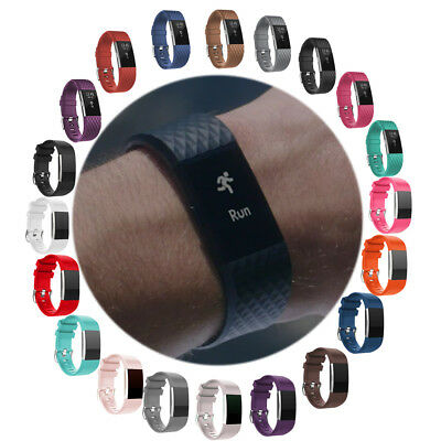 FOR Fitbit CHARGE 2 !!Replacement Silicone Rubber Bands Strap Wristband Large/S