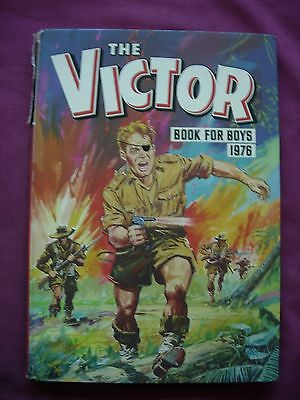 Victor Book for Boys 1976 UK Annual DC Thomson clipped GD/VGC