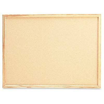 Universal® Cork Board with Oak Style Frame, 36 x 24, Natural, Oak-Finish...