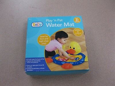 Baby Connection Baby Water Pat Mat 3+ Mos Inflatable Duck Water Play Toy