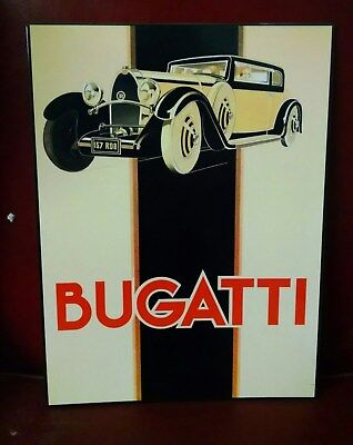 BUGATTI with LOGO - OLD Metal Sign - heavy guage metal with porcelain look