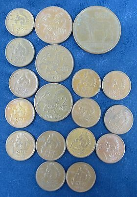 18 old Norway coins