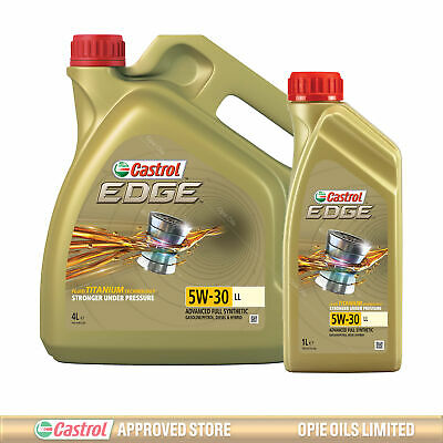 Castrol EDGE Titanium FST 5W-30 LL Full Synthetic Engine Oil 5 Litres 4 + 1L