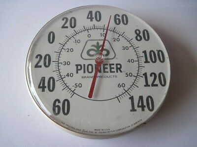 """Vintage Pioneer Seed Thermometer Original Ohio Jumbo 12"""" Dia. Dial Made In USA"""