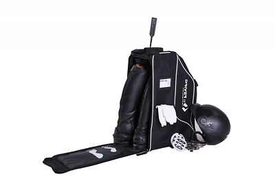 Riding Bag Boots Horsewear Shoes Deluxe Helmet Compartment Stands 55 cm Black