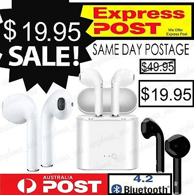 ◆ For iPhone 7 8 X 6S Plus 5 Wireless Stereo Bluetooth Earphone Earbud Headset ◆
