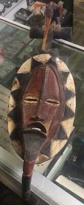 African Tribe Yellow Halo Mask