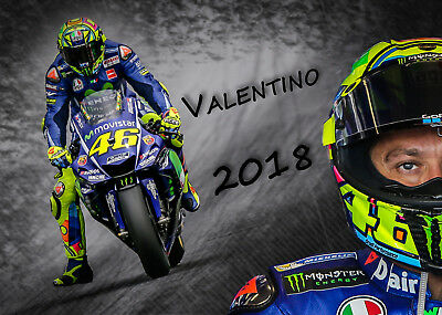 Valentino Rossi Kalender 2018 A3 Vale VR 46 Moto GP The Doctor