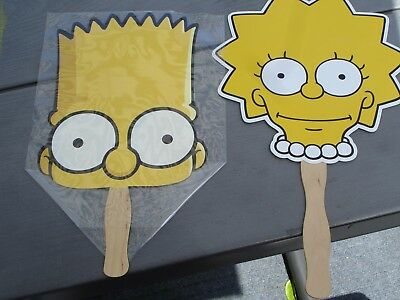 The Simpsons Two Simpsons Hand Fans Lisa And Bart