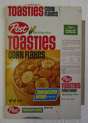 1960's Post Toasties Table Cloth Offer Mint File Copy Cereal Box