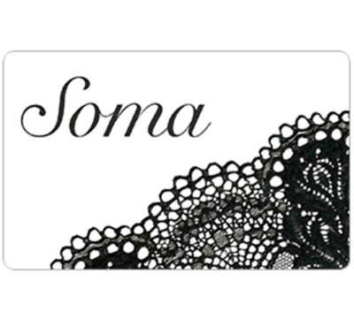 Soma Gift Card - $25 $50 or $100 - Email delivery