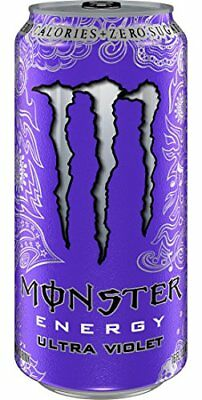Monster Energy, Ultra Violet, 16 Ounce (Pack of 24) New