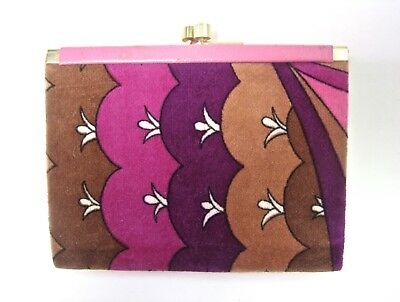 Emilio Pucci Velvet Vintage Coin Change Purse Purple & Pink