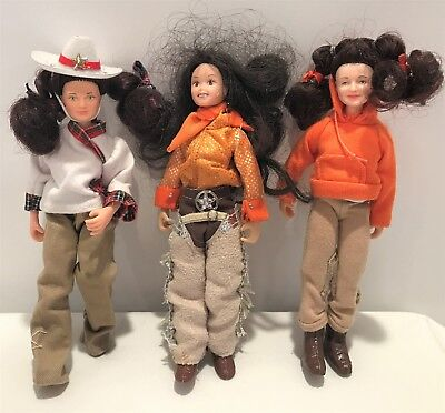 BREYER Horse Riders Girl People Dolls Toy Lot of 3