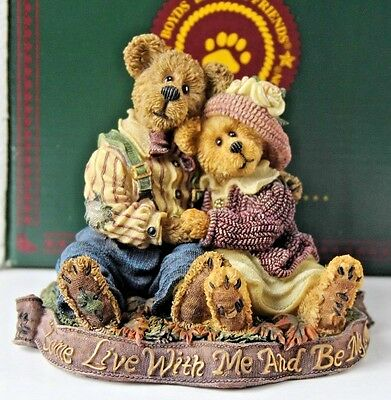 Boyds Bears Bearstone - Henry and Sarah...The Best is Yet to Come #228330 2000