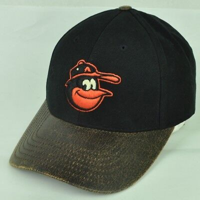 36b09cb17be07 MLB Baltimore Orioles American Needle Black Brown Curved Clip Buckle Hat Cap