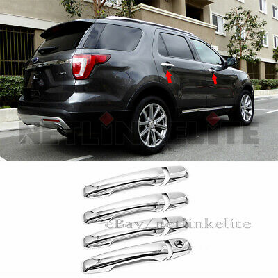 11-14 Ford Explorer Triple Chrome 4 Door Handle with Smart Key w//o PSG KH Cover