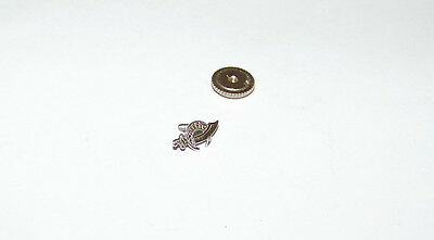Vintage Masonic Shriners Aleppo Temple 10K White Gold Screw Back Lapel Pin