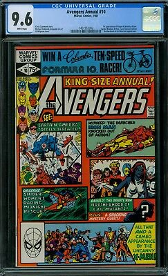 Avengers Annual 10 CGC 9.6 - White Pages - No Reserve Auction - 1st Rogue