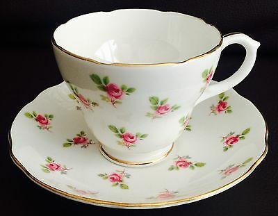 Vintage Duchess Gold Gilded English Bone China Cup & Saucer In Lovely Condition