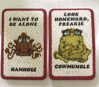 Two Vintage Mid 1970's Freakies Cereal Iron-on Patches