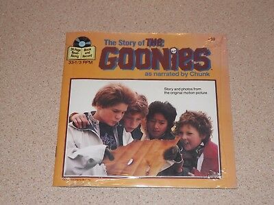 "Read-Along Book and 7"" 33-1/3 RPM Record, The Goonies, Brand New & Sealed"