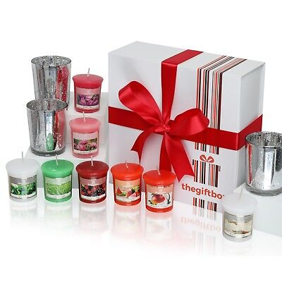 Luxurious Scented Candles Gift Set by The Gift Box. Comprises 8 Different Beauti