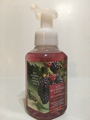 New Bath Body Works Wild Blackberries & Basil Gentle Foaming Hand Soap 8.75 Oz