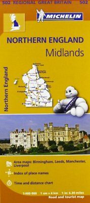 Northern England, the Midlands (Michelin Regional Maps) New Map Book