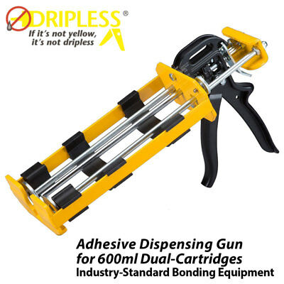 Dripless DC600 Dual-Barrel Universal Dispensing Gun for 600ml / 22 oz Cartridges