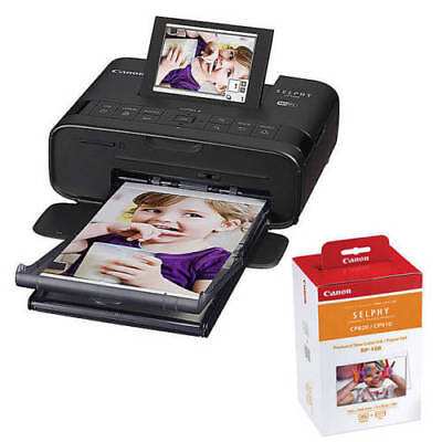 Canon Selphy CP1300 Compact Photo Printer Bundle with RP108 Ink and Paper