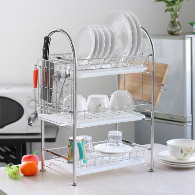 Nex Dish Rack 3 Tier Stainless Steel Drainer Free Shipping