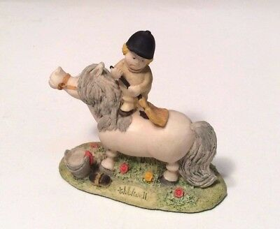 "Norman ""thelwell"" Groom Daily Horse Collectible Figurine Made in England  1986"