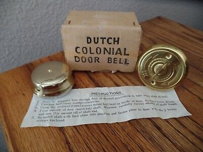 Vintage 1950's Dutch Colonial Door Bell Lacquered Brass No. 734 Japan