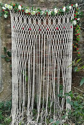 Large Macrame Wall Hanging Door Window Curtain Wedding Backdrop Arch Arbor