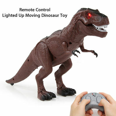 Walking Remote Control Dinosaur Toy Model Light-Up Sound Action Figure Xmas Gift