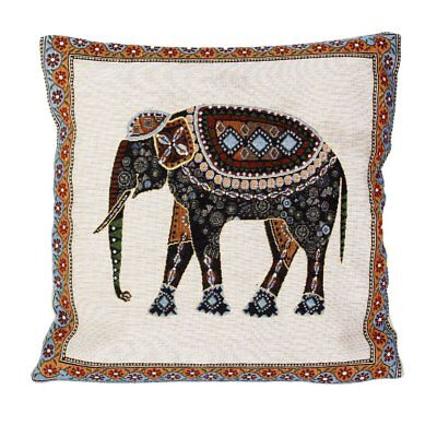 H1 42x42cm Knitted Elephant Cotton Cushion Cover Decor