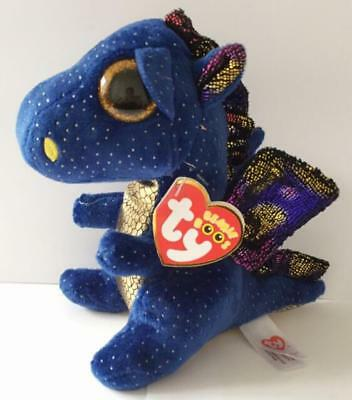 Ty Beanie Boos Big Eyes Lovely Saffire Dragon Dolls Plush Toys Kids Gift 17cm