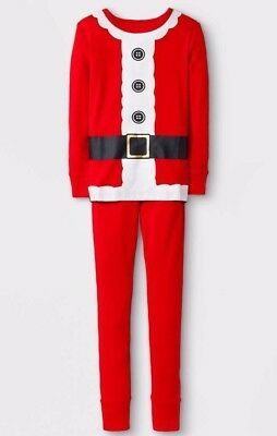 Santa Suit Elf Pajamas Mens M Christmas 2 Piece Set Long Sleeve Costume Cotton