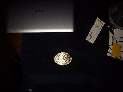Mens Belt Buckle Silver & Gold Color  North *american*hunting*club Life Member