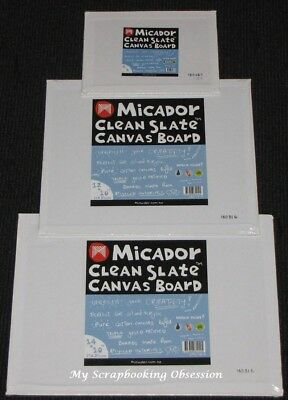 Micador 'CLEAN SLATE CANVAS BOARDS' Triple Gesso Primed (Choose from 3 Sizes)