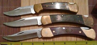 Vintage Buck 110 Two Dot, Buck 112, LB7 Bear Paw 3 Knife knives Made in USA