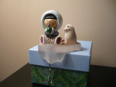 Vintage 1985 Hallmark Frosty Friends with Seal Christmas Stocking Hanger