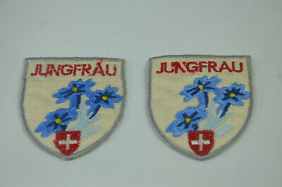 JUNGFRAU SWITZERLAND ALPS  Embroidered Iron Sew On Cloth Patch Badge  APPLIQUE