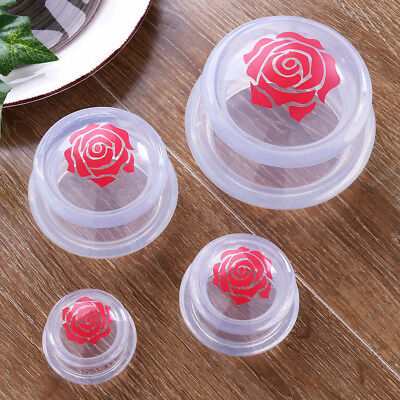 Set of 4 Medical Vacuum Silicone Transparent Massage Cups Cupping Jar Body