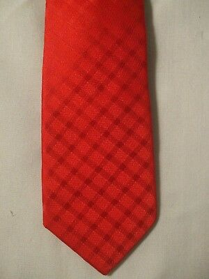 NWT! CHAPS Boys Red Embedded Diagonal Check Polyester Clip On NECK TIE